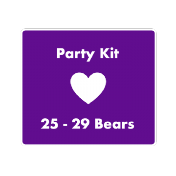 "8"" Bear Party Kit for 25 Children"